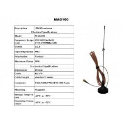 700-2600 MHz magneettiantenni, 1 m, SMA